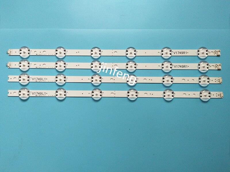New 10set=40 PCS LED Strip For LG 49UV340C 49UJ6565 49UJ670V V17 49 R1 L1 ART3 2862 2863 6916L-2862A 6916L-2863A