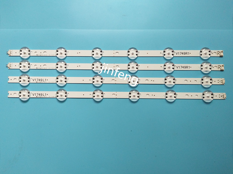 New 5set=20 PCS LED Strip For LG 49UV340C 49UJ6565 49UJ670V V17 49 R1 L1 ART3 2862 2863 6916L-2862A 6916L-2863A