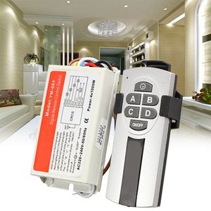 Image 2 - HFES Yam Digital Wireless Wall Switch Splitter Box + Remote Control 4 Port Way Light Lamp