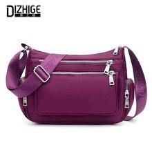 DIZHIGE Brand Solid Waterproof Oxford Women Shoulder Bag High Quality Crossbody For Fashion Multi-pocket Messenger