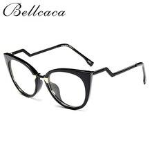 Bellcaca Eyeglasses Spectacle Frame Women Cat Eye Computer Optical Glasses Myopia For Ladies Female Transparent Clear Lens BC139