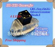 Фабрика продавать! HD CCD с 4 светодиодами заднего вида Обратный Камера для Honda CRV/Новый Fit (2C) /2009 Odyssey/Crosstour/Mazda 8