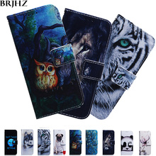 Nova 4 Case on For Fundas Huawei 3 Flip Painted Leather Wallet Magnet Cases Coque Cover