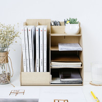 Wood Multi Use Office Organizer Sundries Table Storage Box Colorful DIY Files Racks Eco Stationary/Book Storage Holder