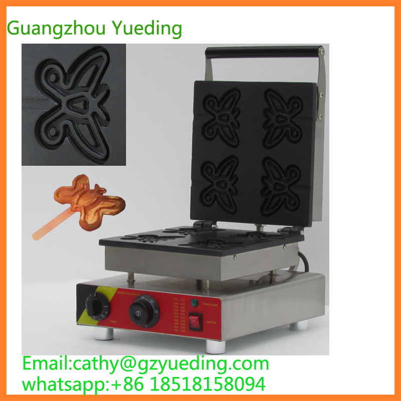 hot sell butterfly shape waffle maker/commercial special shape waffle machinery
