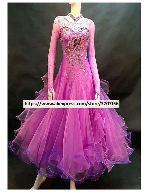 bc4ab5745 Nueva llegada vals competencia vestido. New Arrival Waltz Ballroom Dress  Competition Women