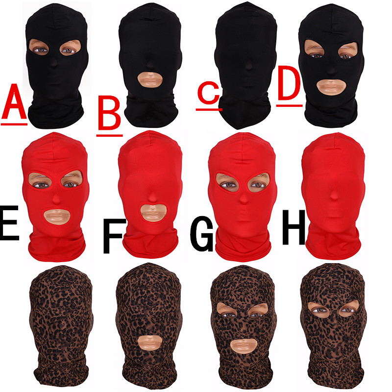 Fun Games Head Black Sex Mask Piece Sexy Head Mask Slave Open Mouth SM Bondage Sex Kinky Sex Toys For Woman Man Couples