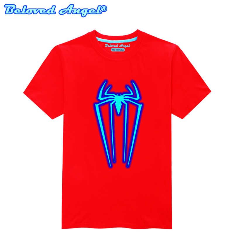 Tercinta Angel Bercahaya 3D T-shirt Bayi Kaos Katun untuk Anak Anak Musim Panas Lengan Pendek Katun Kaos Pakaian Olah Raga