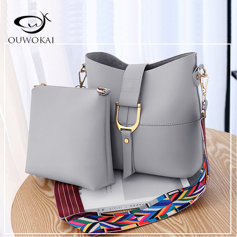 Women Bucket Bag Package Fashion bolsa feminina Casual Soft Clutch Ladies Leather Shoulder Bags Tote Messenger bolso mujer 2017 2017 new women leather handbags fashion shell bags letter hand bag ladies tote messenger shoulder bags bolsa h30