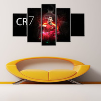 Wholesale 5 Panel Cristiano Ronaldo 7 Oil Painting Wall Art Paintings Picture Paiting Canvas Paint Home