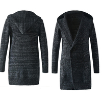 Jacket Men's hooded Cardigan Men's Sweater Long sweater Men's knit cardigan