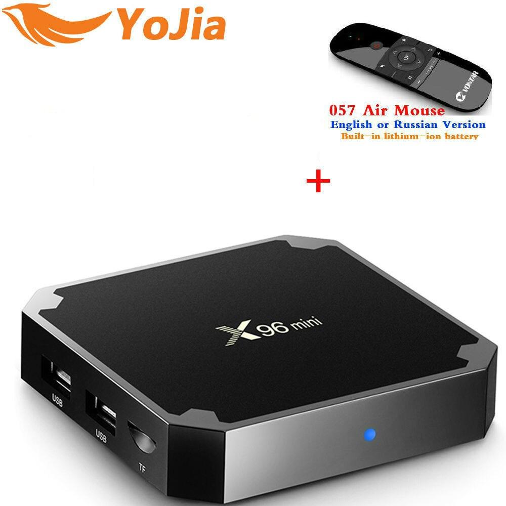 Yojia X96 mini Android 7.1 TV BOX 2GB16GB Amlogic S905W 1G 8G QuadCore 2.4 GHz WiFi X96mini Smart set top box 4 K Media Player