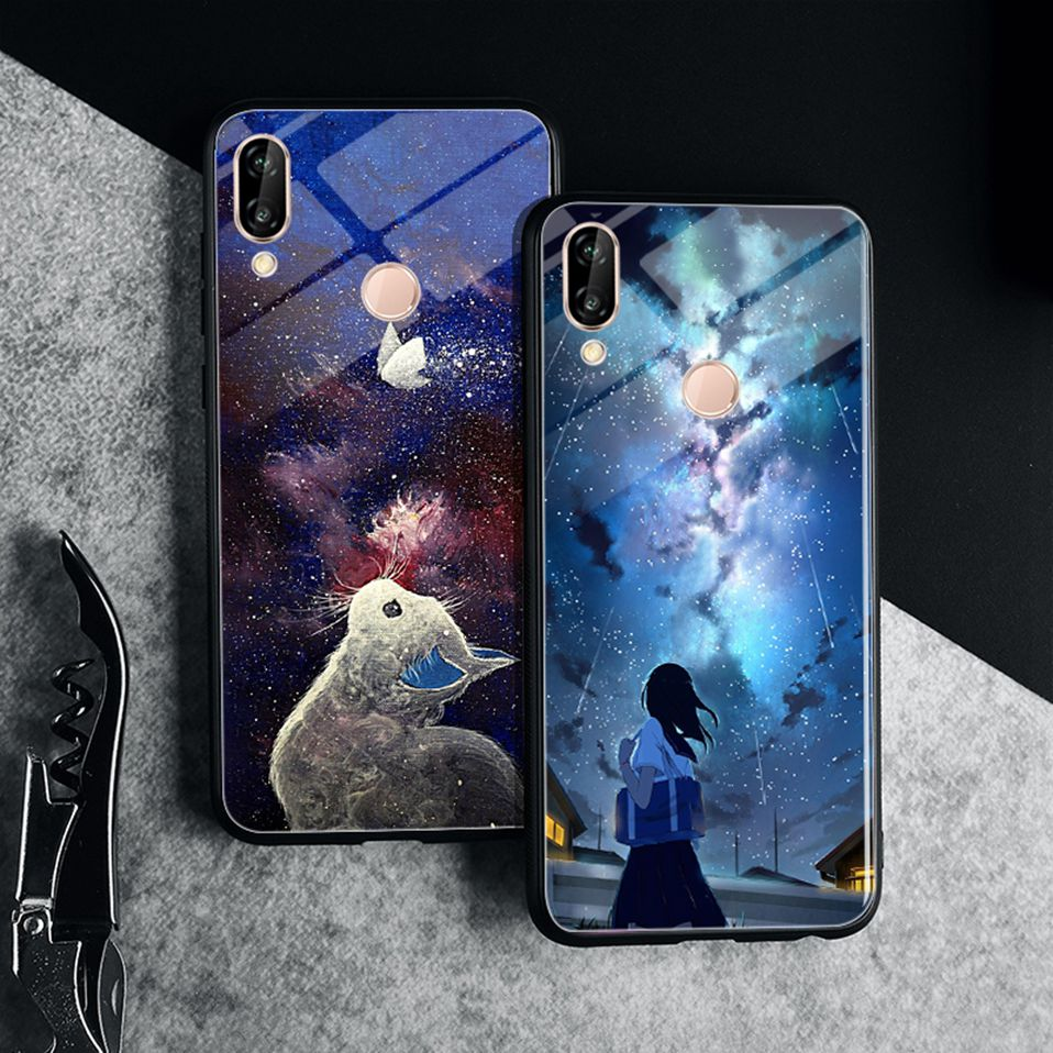 Glass Case For Huwei P20 Lite Nove 3 2i Silicone Anime Case For Huawei Honor Play 9 7A Mate 10 20 Lite P20 Pro P Smart Y6 2018   (17)