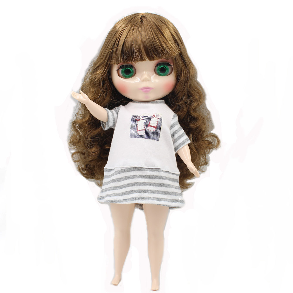 blyth doll for plump body factory fat brown with bandgs bjd toys BL0623 neo suitable for