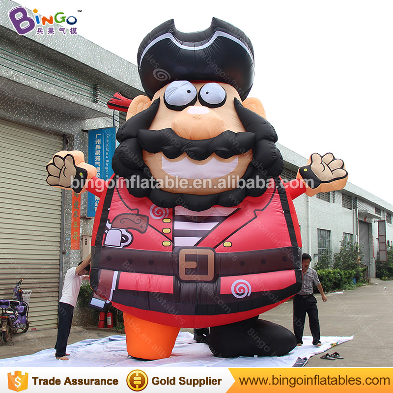 Customized giant Inflatable Pirate for amusement park decoration vivid Inflatable Viking Replica for sale Captain Toy model