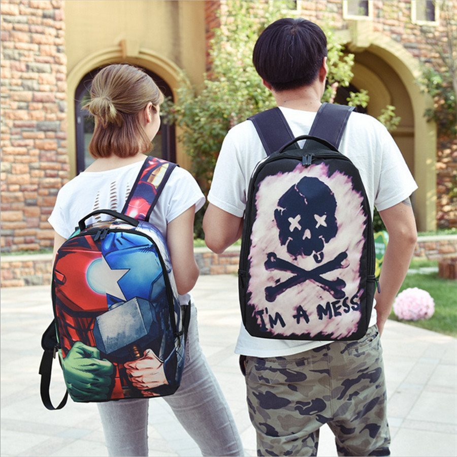 2016 Fashion New Style Backpack Graffiti Backpack Canvas School Bags For Teenagers Girls Women Bag Men Travel Bags cool urban backpack for teenagers kids boys girls school bags men women fashion travel bag laptop backpack
