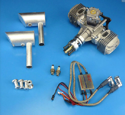 DLE60 60cc Model Plane Gas Engine 7HP for Model Airplane aluminum water cool flange fits 26 29cc qj zenoah rcmk cy gas engine for rc boat