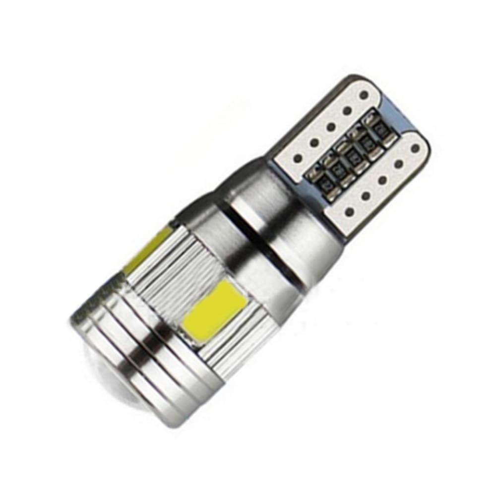 10 pcs Mobil LED Light Bulbs Lampu Izin T10 W5W 6SMD 5630 194 168 - Lampu mobil - Foto 3