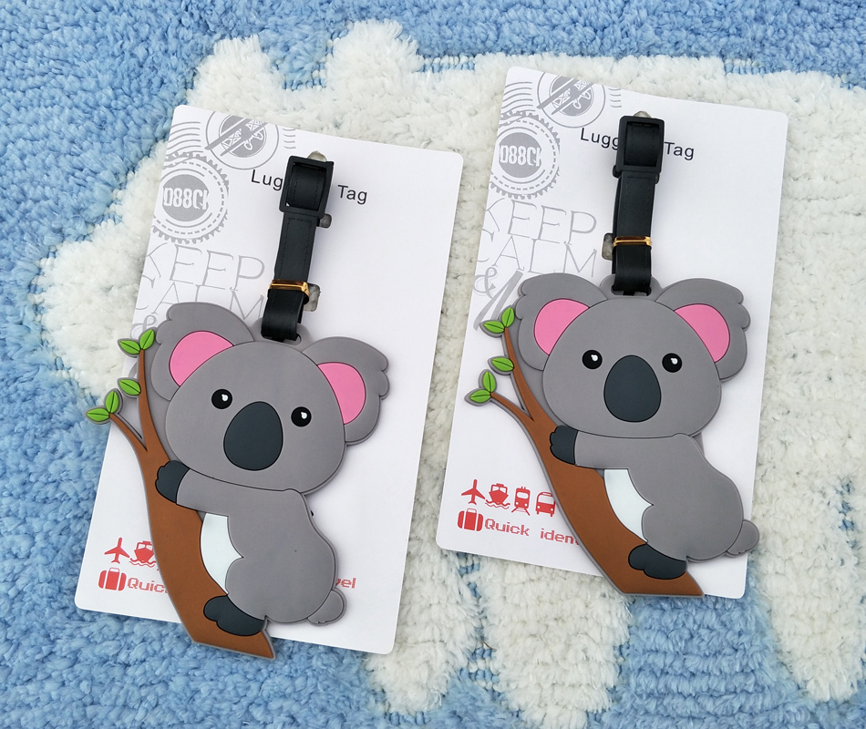 IVYYE Cute Koala Anime Travel Accessories Luggage Tag Suitcase ID Address Portable Tags Holder Baggage Labels New