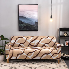 24 colors Slipcover Stretch Four Season Sofa Covers Furniture Protector Polyester Printing Couch Cover Towel 1/2/3/4-seater