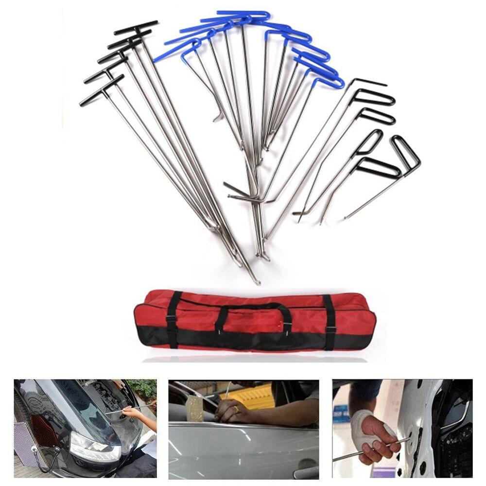 Kits PDR Paintless Reparação Dent PDR Ganchos Push Rods Para Reparação de Danos Causados Por Granizo Remoção Dent Reparação Dent Carro