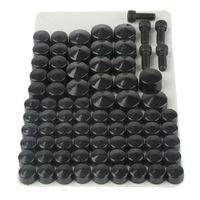 75Pcs Bolt Topper Caps Set For Harley Touring Electra Street Glide Road King FLHT FLH FLT Models 2007 2012 Black/Chrome