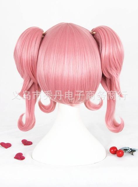 Peluca de Cosplay Macross Makina Nakajima, coletas rosadas, Cabello para juegos de rol de Halloween