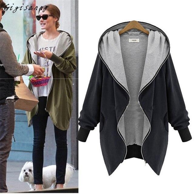 Gigisanny 2017 New Womens Fashion Zipper Hoodie Kapuzen Jacket Parka Coat Windbreaker Free Shipping,Nov 1