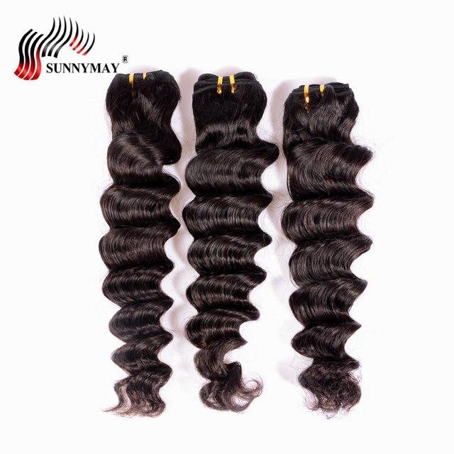 Sunnymay Malaysian Hair Loose Wave Human Hair Bundles 3 PCS Natural Color Human Hair Weave