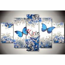 5d diy Diamond embroidery butterfly flower diamond painting Cross Stitch full drill Rhinestone mosaic Multi picture