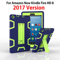 For Amazon New Kindle Fire HD 8 2017 Version Case 8 Kids Safe Armor Shockproof Heavy