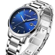 Marca superior masculino relógio de aço automático relógio mecânico moda luxo masculino relógio de pulso relógio de negócios do esporte presente