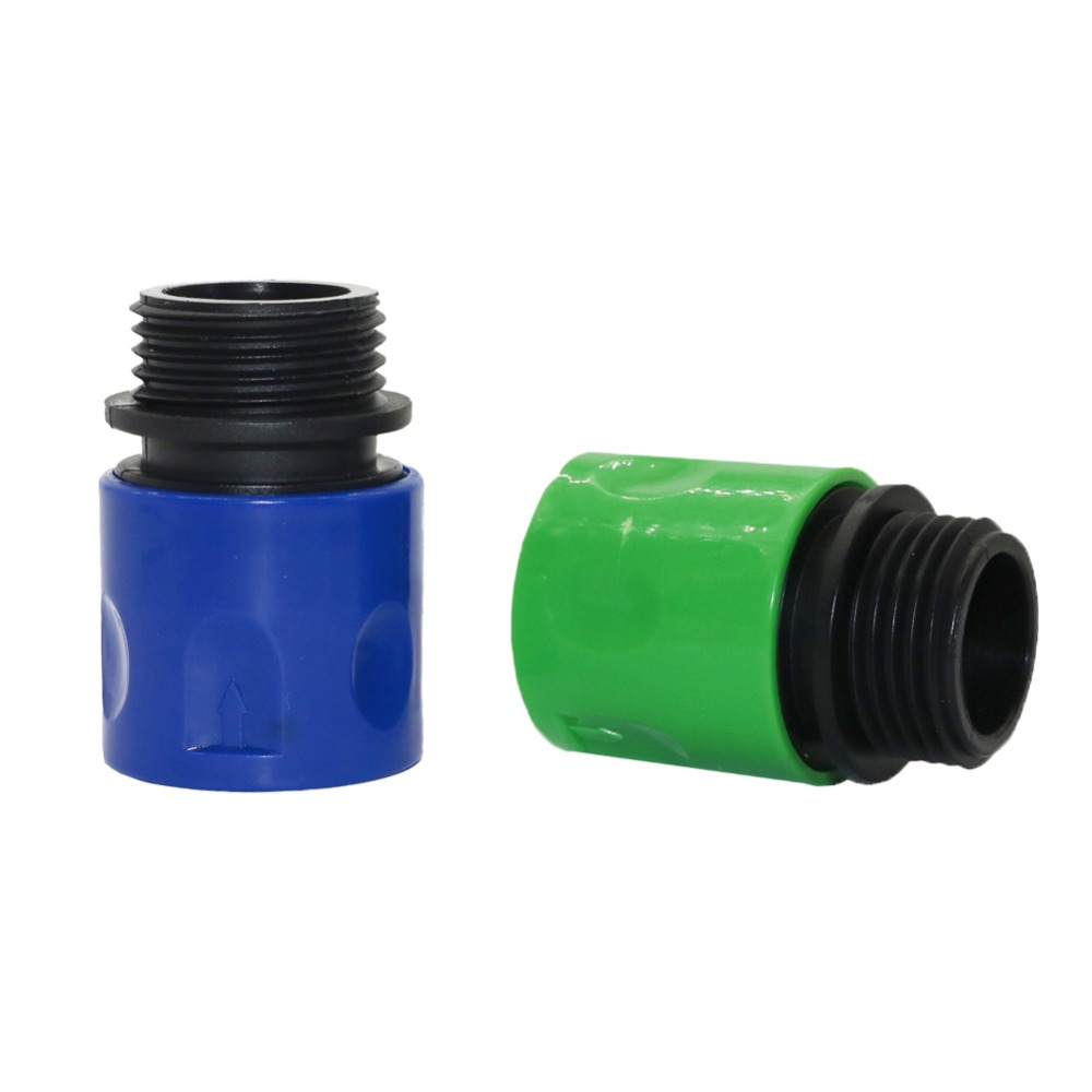 2 Pcs 3/4 Inch American Standard European Standard Male Quick Connector Garden Irrigation Pipe Hose Couping Adapter Connectors