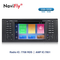 Navifly Octa Core Android 9.1 car Radio GPS Stereo System For BMW E39 X5 E53 Car Multimedia player 3G 4G WIFI navi RDS FM