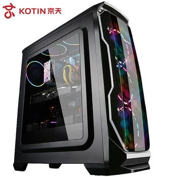 Kotin A7 AMD Ryzen 5 2600 Hexa Core juego de PC de escritorio GTX1050TI GPU 120GB SSD de 8GB DDR4 2666 RAM escritorio de la computadora para PUBG RGB Fans