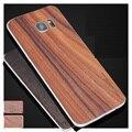 Simple para samsung s7 back palo/de madera de madera real después de la película para samsung galaxy s7 g9300 case