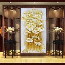 Лилии сделай сам рукоделие крестом мозаика алмазный алмаз вышивка декоративные живопись