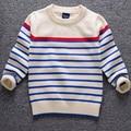 Anlencool folga camisola camisola das crianças do bebê de alta qualidade bebê para promover wecotton suéter listrado camisola de gola alta