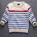 Anlencool liquidación suéter suéter de los niños del bebé de alta calidad para promover bebé wecotton suéter a rayas de cuello alto suéter