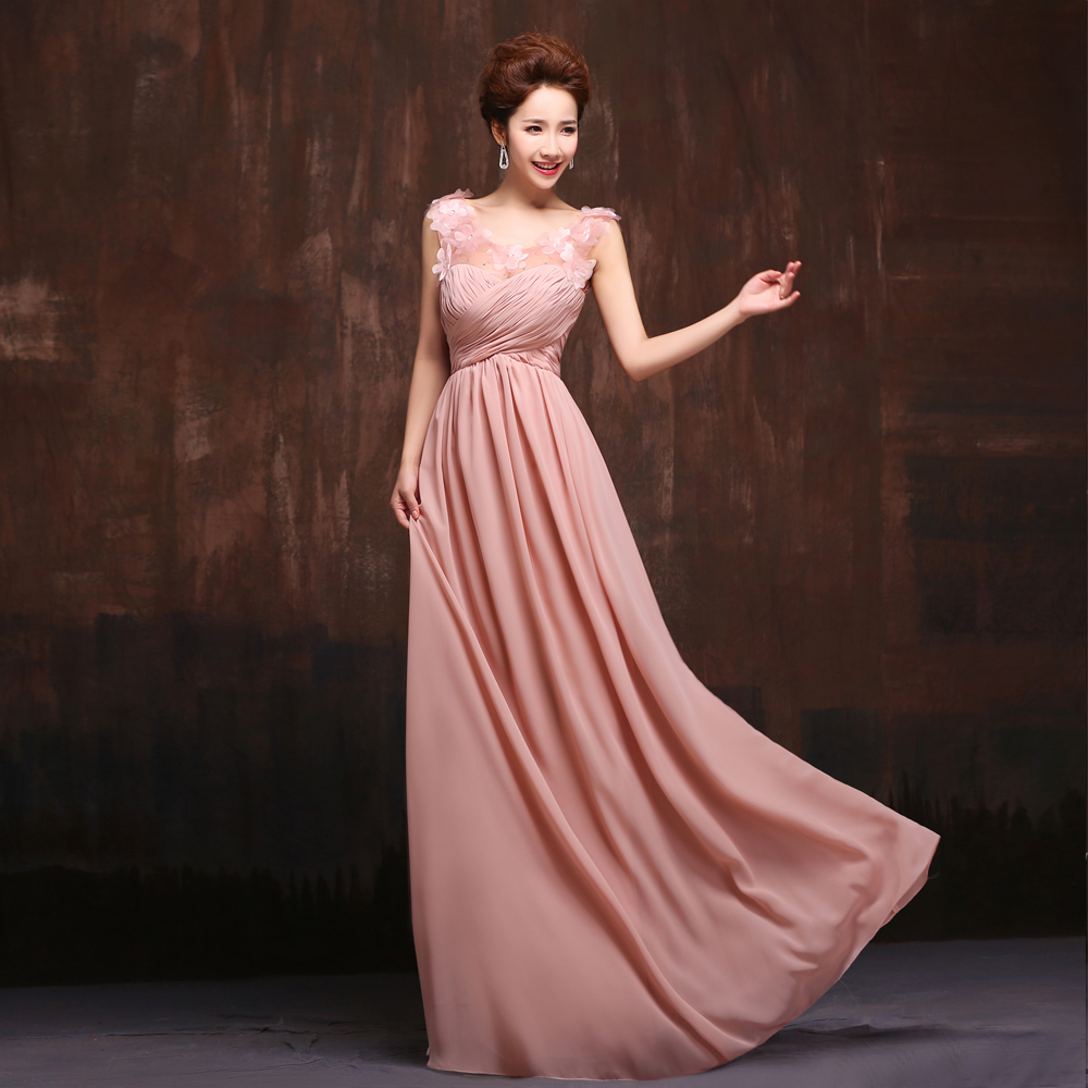 2017 New 5 Styles Long Chiffon Old Rose Pink Blush Bridesmaid Dress Wedding Prom Party Under 50 On Aliexpress Alibaba Group