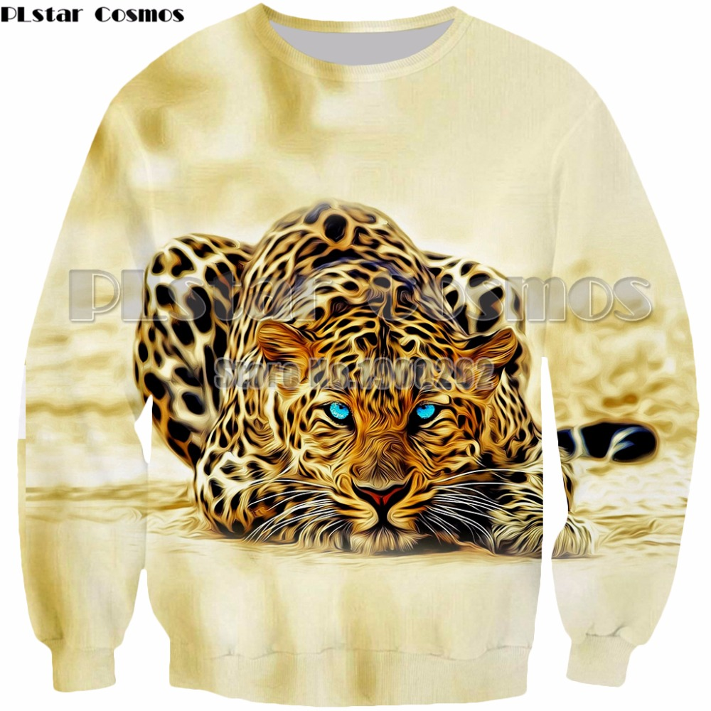 PLstar Cosmos Leopard Sweatshirt 3D Print Animal Pullover Hoodies Casual Clothing Tops Drop Shipping