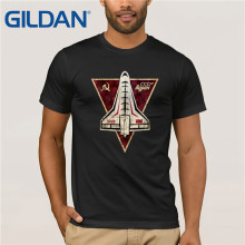 Gildan Brand Russia CCCP Retro-Future Emblem Space Exploration Program T-Shirt Summer Mens Short Sleeve