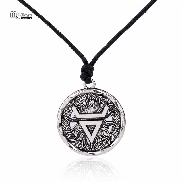 My Shape Veles Symbol Weles Choker Sun of God Talisman Pendant Statement Necklace Men Slavic Amulet Religion Viking Necklaces