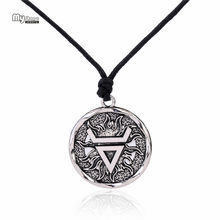 My Shape Veles Symbol Weles Choker Sun of God Talisman Pendant Statement Necklace Men Slavic Amulet Religion Viking Necklaces(China)