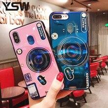 hot deal buy ysw soft cover for xiaomi mi max 2 3 pro mi note 2 3 case for xiaomi mi mix 2 2s blue light camera shape printed luxury funda