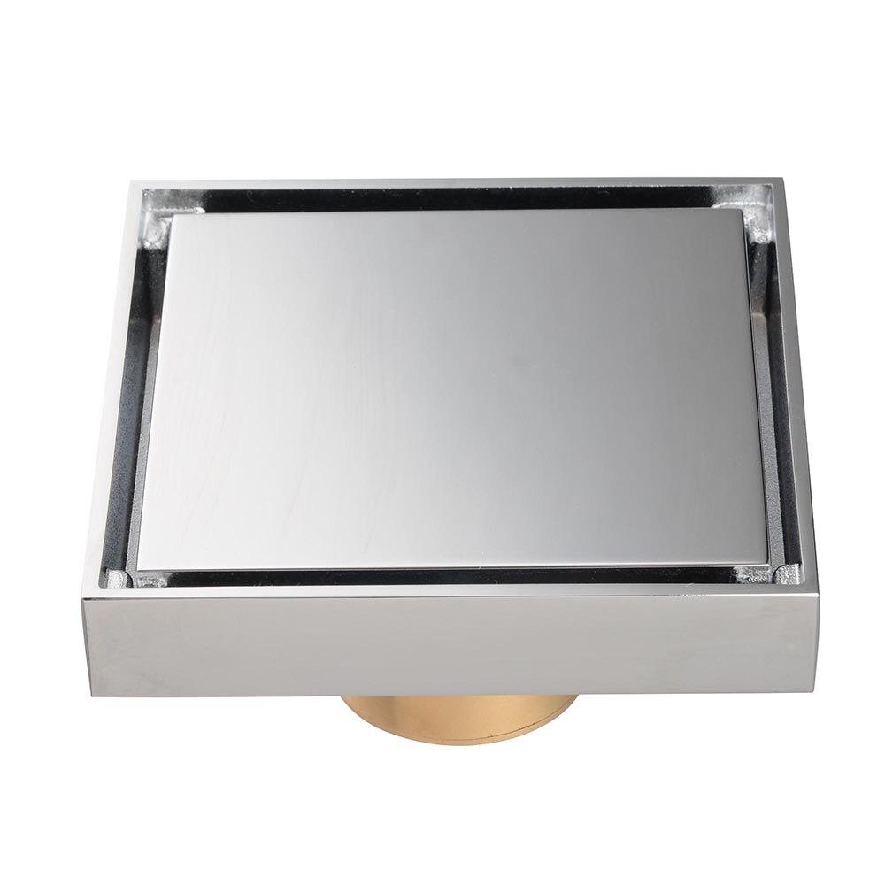 Bathroom Brass Floor Drain Chrome Home Grate Wetroom Shower Tile Insert Drainer