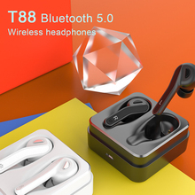 New TWS Sport/Nano Earphones T88 Bluetooth 5.0/Wireless Earbuds Stereo Sports IPX5 Waterproof Ear Separate Ultra Small Earphone floveme mirror pc flip leather case for iphone 6s 6 7 8 plus 5s cover plating smart window cases for iphone x 10 5s 5 se shell