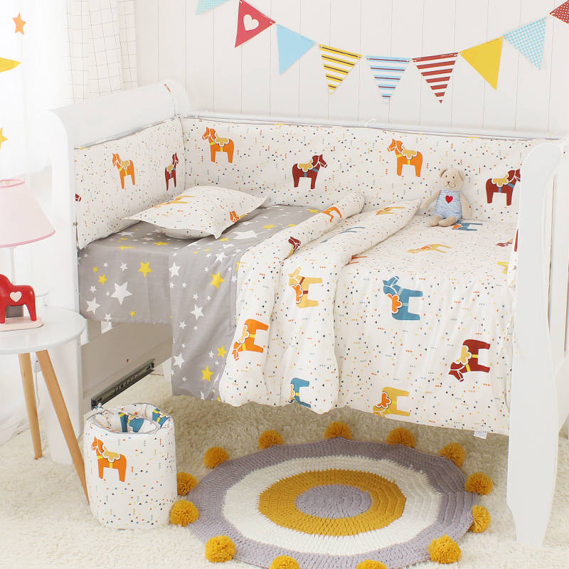 Bed Linen For Baby Cotton Baby Bedding Set Newborns Boy Girl Cot Bumber Set Infant Crib Bumbers Mattress 6pcs/set High QualityBed Linen For Baby Cotton Baby Bedding Set Newborns Boy Girl Cot Bumber Set Infant Crib Bumbers Mattress 6pcs/set High Quality
