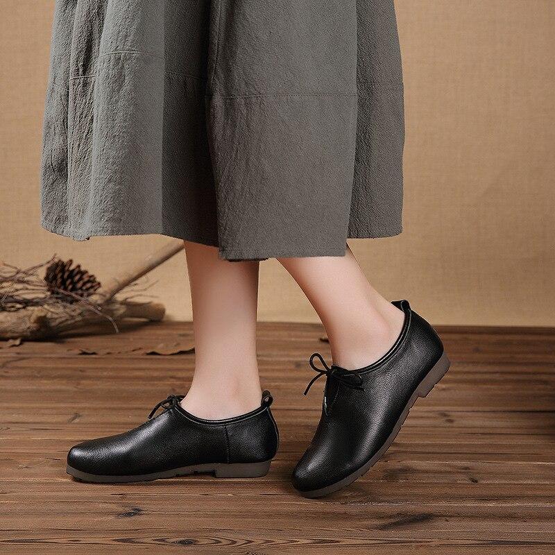 Automne nouvelles chaussures pour femmes chaussures de marche littéraires rétro en cuir chaussures simples chaussures de marche B1L1-B1L6