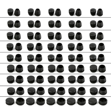 10 шт. Черный пластик мебель ножка заглушка заглушка конец крышка заглушка для круглый труба трубка +% 23 сен.10